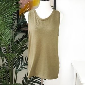ASOS Olive Green Muscle Tank Top M